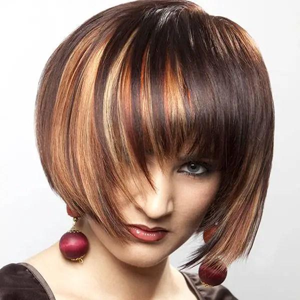 short hairstyles brown hair highlights short hairstyles 2016