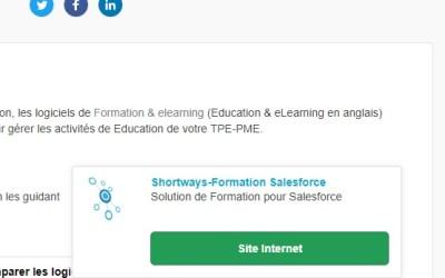 Shortways : outil de formation Salesforce