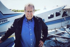 Peter Greenberg at Lake Hood Seaplane Base, Anchorage - credit Courtney Crockett