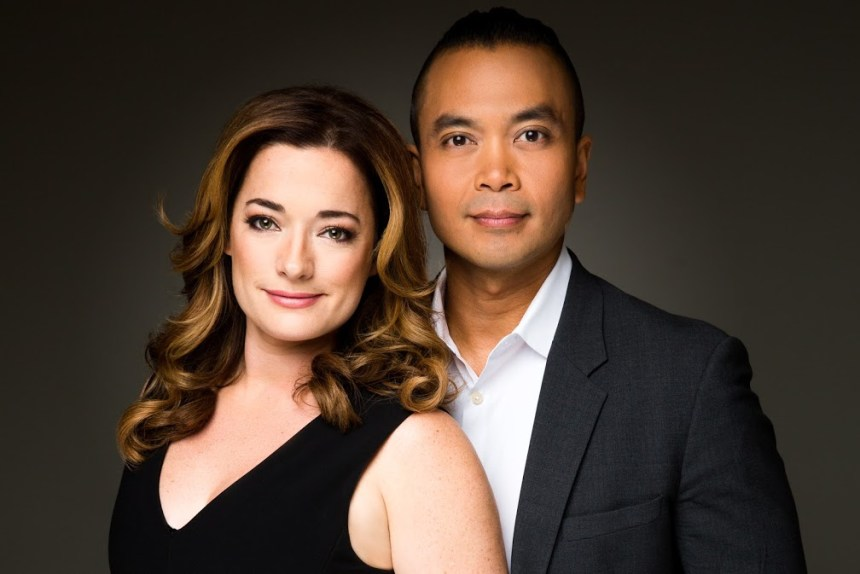 Laura Michelle Kelly (Anna Leonowens) and Jose Llana (King of Siam) THE KING AND I Broadway In Chicago's Oriental Theatre June 13 through July 9, 2017