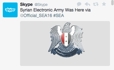 Skype official Twitter account has been hacked