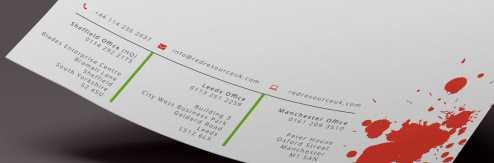 Red Resource UK Letterhead design