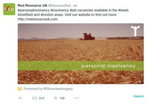 branded tweet image for red resource uk