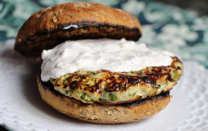 Turkey Burger with Yogurt Low Calorie