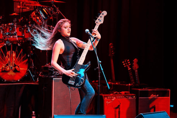 """Kelsey James sets the stage on """"Fire"""" while performing. Photo Credit: Jeff McCullough"""