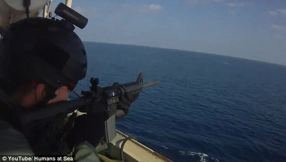 Dramatic Footage Of Firefight On The High Seas: U.S. Security Contractors Open Fire On Somali Pirates