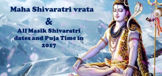 Masik Shivaratri dates and Puja Time