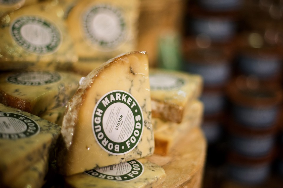 Cheese is displayed for sale at a Whole Foods store in Dublin, Ohio, U.S., on Friday, Nov. 7, 2014.