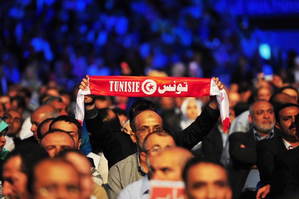 Supporters of the Ennahda party for the opening of the 10th Congress of the Movement on May 20.