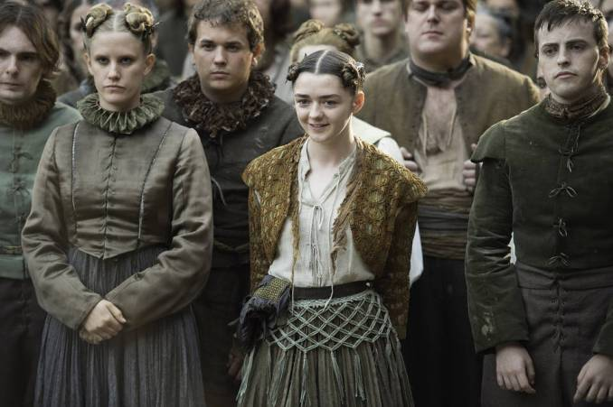 Maisie Williams, center, as Arya Stark in 'Game of Thrones.'