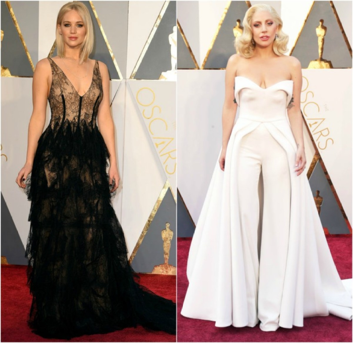 PicMonkey Collage lady gaga og jennifer lawrence