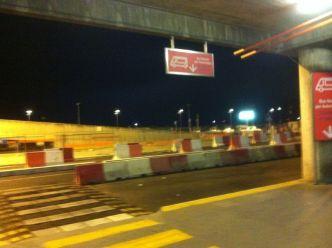 Arrivée de nuit à  Punta Raisi, l'aéroport de Palerme
