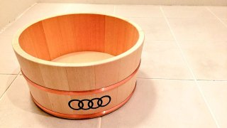 #audi銭湯 Audiからのクリスマスプレゼント檜桶が届く
