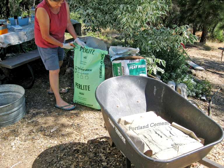 Make your own concrete planters flea market gardening for Make your own cement