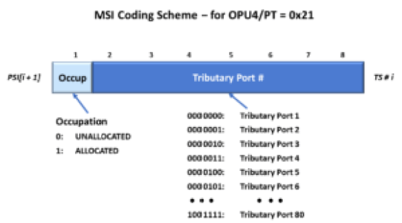 Mutliplex Structure Identifier Definition for OPU4 Applications