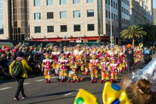Карнавал на Тенерифе — группа детей в костюмах клоунов