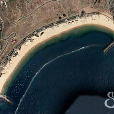 Пляж Лас Тереситас на карте