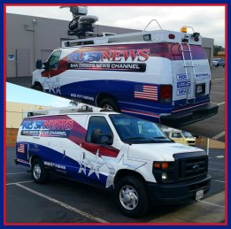 KUSI television station - wrap full fleet