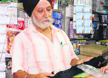 Gurjit Singh Bhola, an affected trader, now runs a small shop in Amritsar