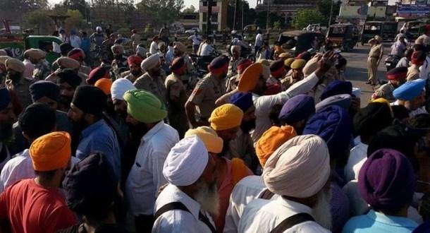 Sikh Sangat Protesting Against Bikram Majithia in Amritsar