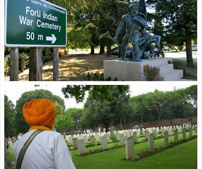 Remembrance service in honour of Sikh soldiers who fell in World War II.