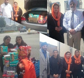 Sikh Relief Travel to Essex to Offer Food and Clothes to Afghan Sikhs