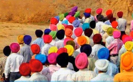 Turbans, symbol of the Sikh culture