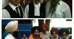 Bhai Kulvir Singh after being acquitted by a trial court in Jalandhar.