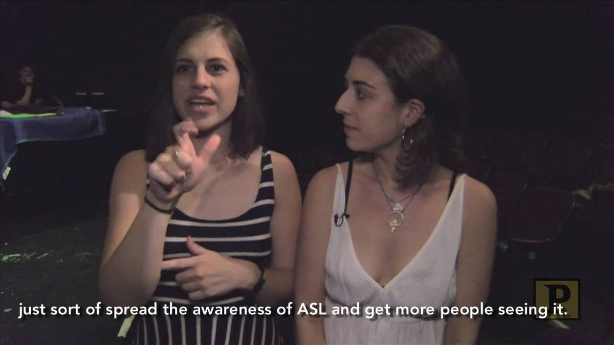 "Student Performers Learn American Sign Language For Spring Awakening's ""Song of Purple Summer"""