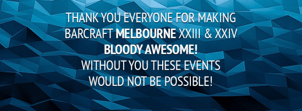 BarCraft Melbourne 23 & 24