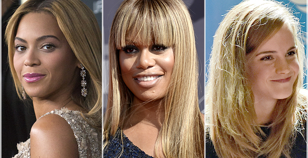 Beyonce, Laverne Cox, Emily Watson (Credit: Reuters/Andrew Kelly/Lucy Nicholson/AP/Matilde Campodonico)