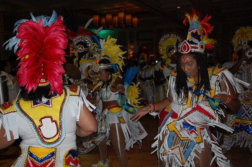 Genesis Junkanoo group performing at the 42nd anniversary celebrations of the Bahamas' attainment of Independence