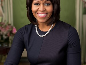 Official portrait of First Lady Michelle Obama in the Green Room of the White House. Photo by Chuck Kennedy  This official White House photograph is being made available only for publication by news organizations and/or for personal use printing by the subject(s) of the photograph. The photograph may not be manipulated in any way and may not be used in commercial or political materials, advertisements, emails, products, promotions that in any way suggests approval or endorsement of the President, the First Family, or the White House.