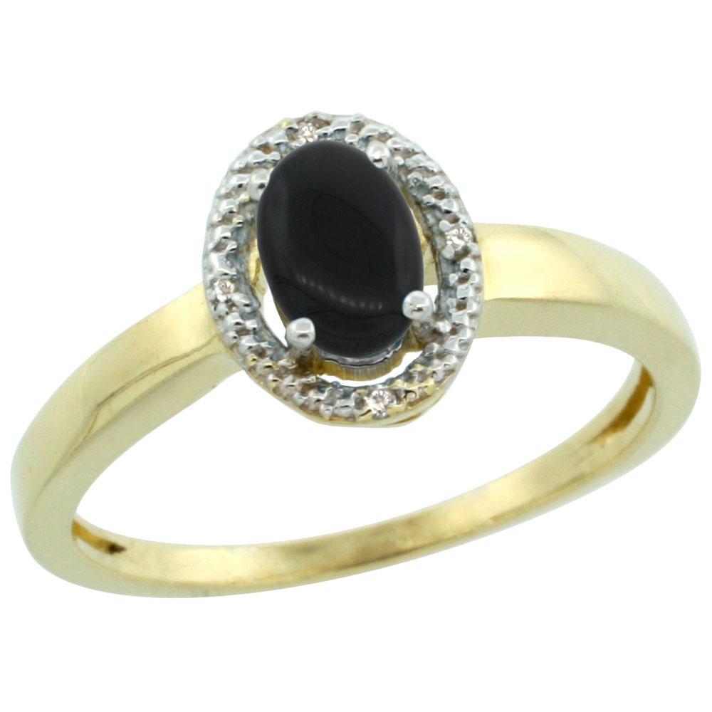 Black Onyx c black onyx wedding ring 14K Yellow Gold Diamond Halo Natural Black Onyx Engagement Ring Oval mm sizes 5