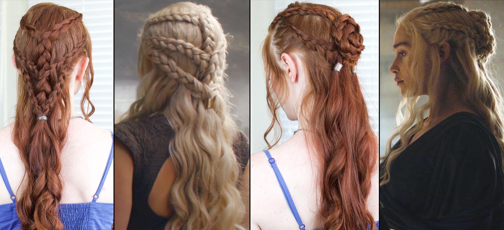 Daenerys Braids in Game of Thrones Season 6