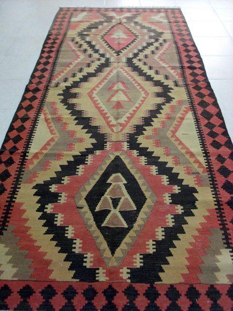 Antiek Kaukasische Shahsevan Kelim 330 x 135