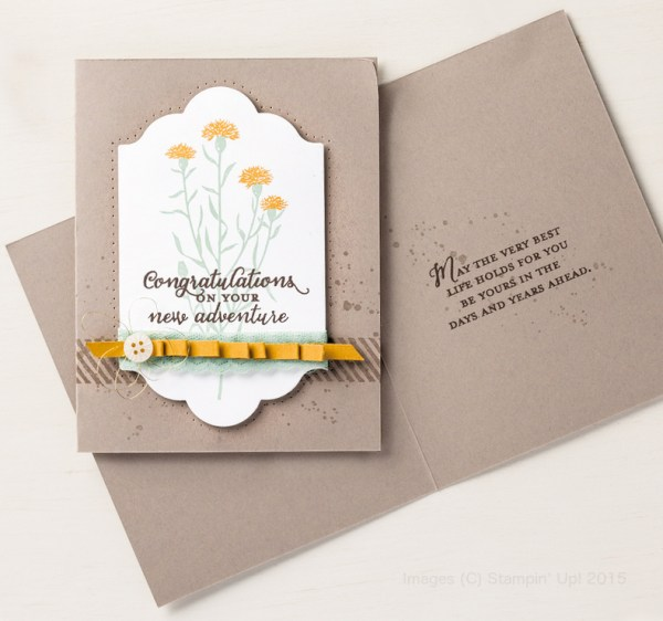 Wild About Flowers on a Crumb Cake card base