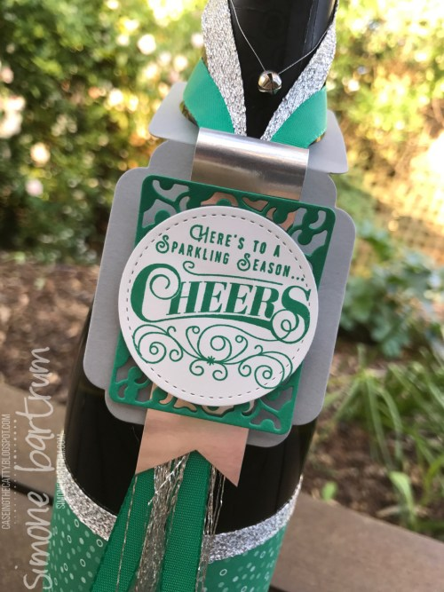 Here's to Cheers Bottle Wrap and Tag - www.simonebartrum.com