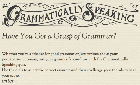 Grammar quiz staples