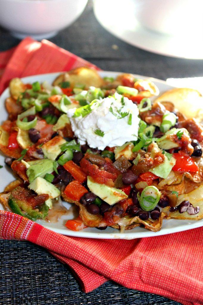 Potato nachos simpleandsavory.com