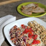 Carnitas style chicken with mexican coleslaw