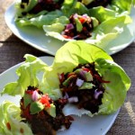 Meatless Tacos in lettuce wraps Simpleandsavory.com