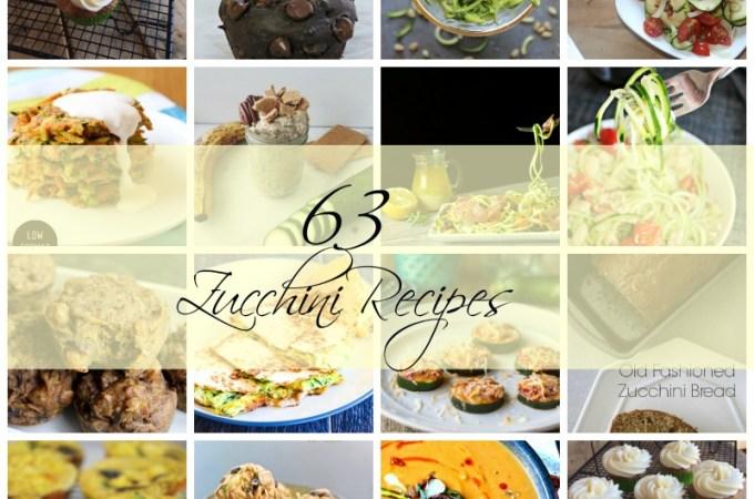 Zucchini recipes 63 Amazing zucchini recipes
