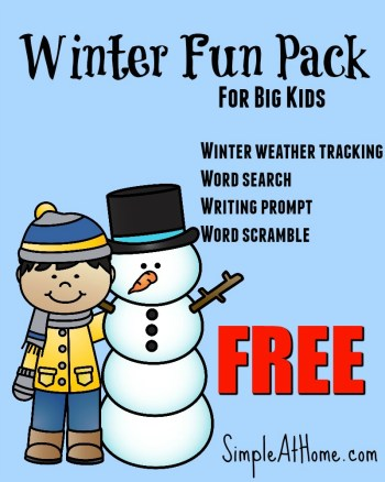 Free Winter Print Pack for BIG kids