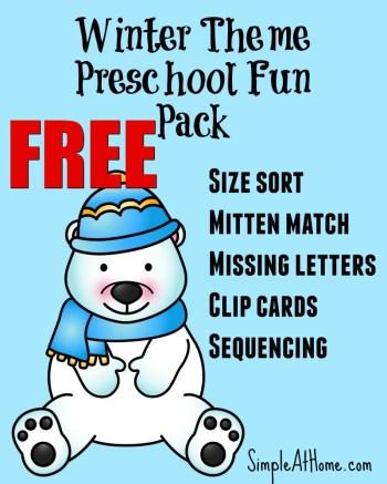 FREE Winter Preschool Printable