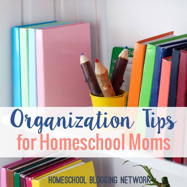 Organization tips for the Homeschool Blogging Network.