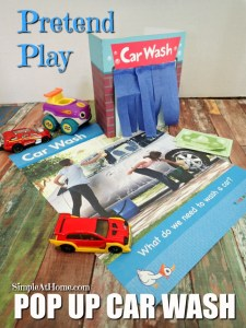 How cute is this? this pop up car wash will keep kids busy for hours and has a free printable to make it easy for you.