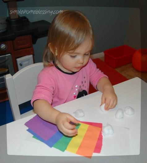 rainbow paper craft