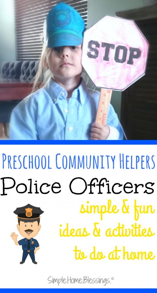 Police Men Preschool Community Help on Theme Police