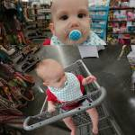 First time in the seat of a shopping cart Ihellip